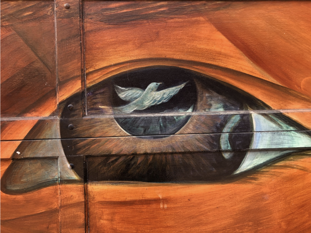 Painting - Dove in an eye